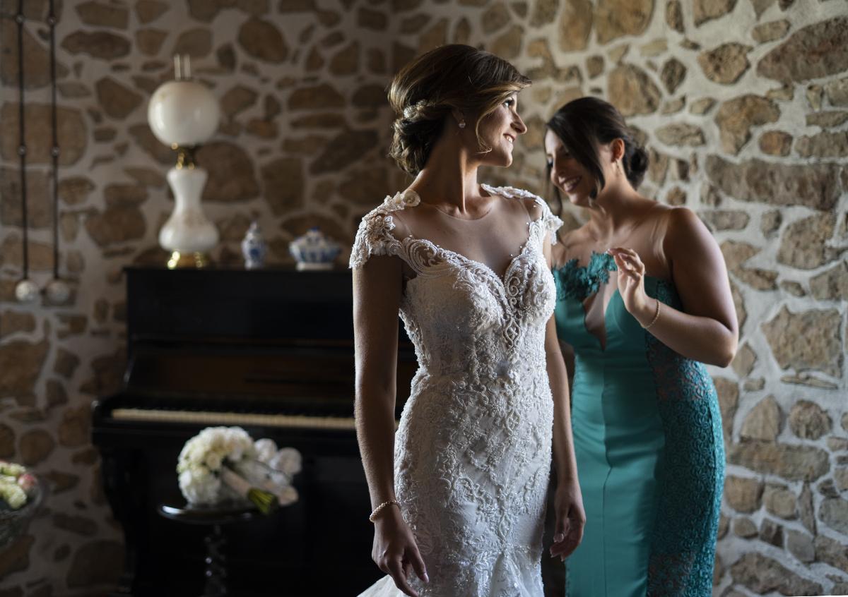 foto del matrimonio con la damigella della sposa
