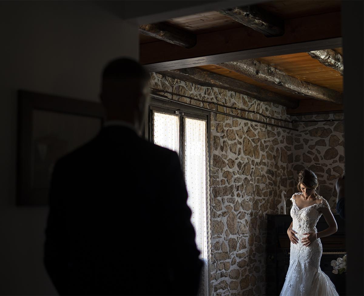 Foto del vestito da sposa del matrimonio