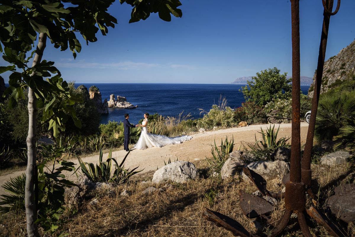foto panoramica del paesaggio della location wedding