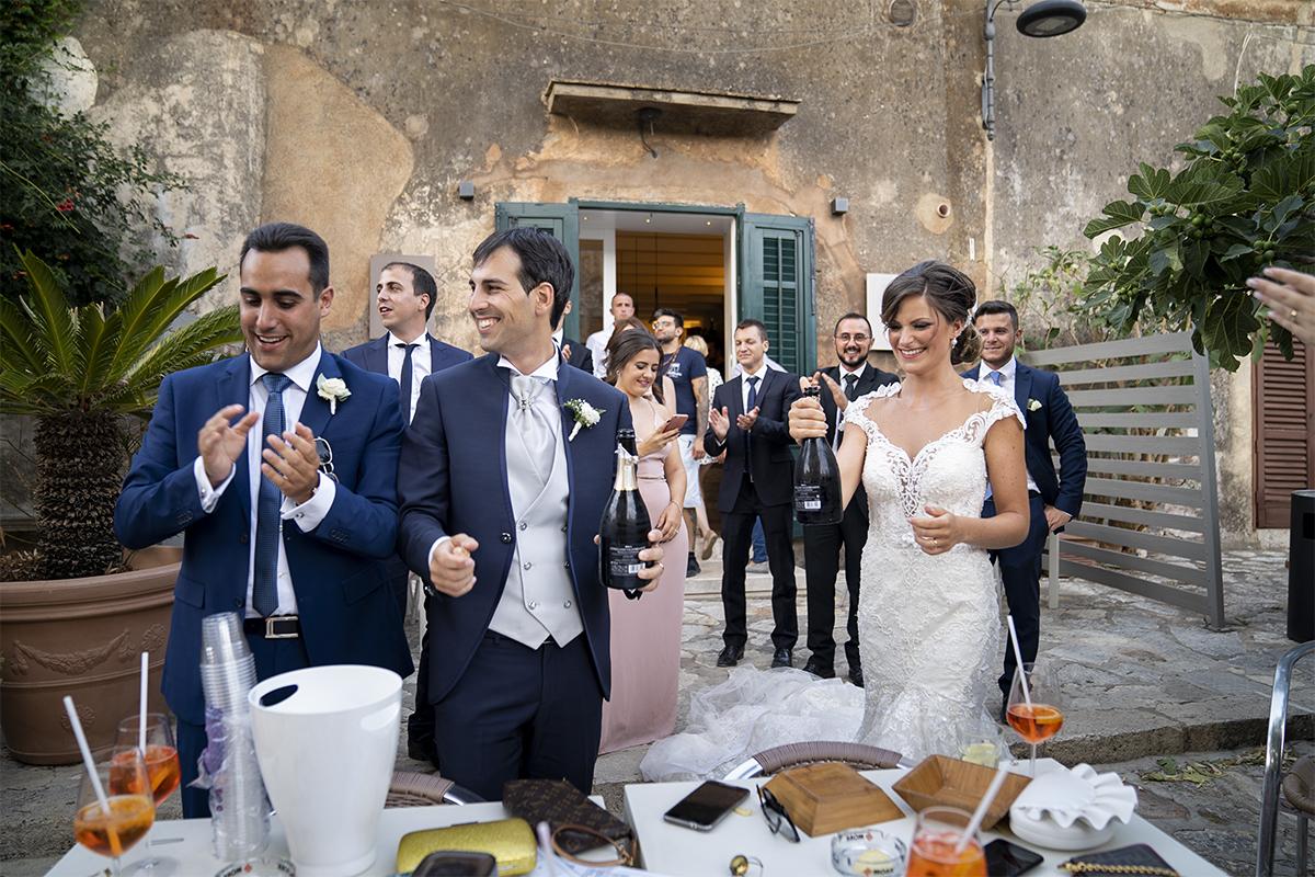 Aperitivo delle nozze in Sicilia